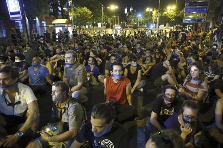 Movimientos sociales demandarán a España en el Tribunal de Estrasburgo por las 'leyes mordaza'