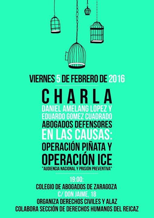 5 de febrero: Charla Operación ICE y PIÑATA
