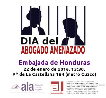VI Día del Abogado Amenazado: Honduras.
