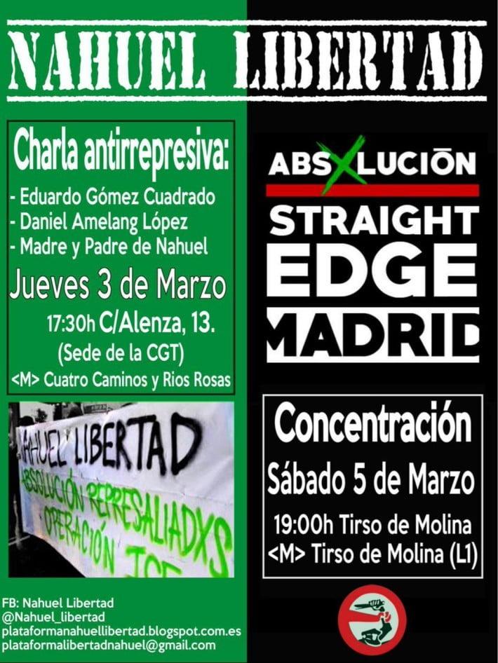 3 de marzo: Charla antirrepresiva en la sede de CGT