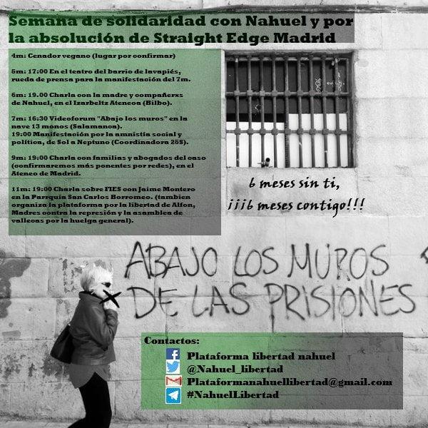 9 de mayo: Charla con familiares y abogados de los detenidos por la Operación Ice