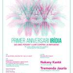 29 de octubre: Primer aniversario de Irídia