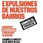 26 de mayo: Primera Asamblea Abierta del Sindicato de Inquilinos/as de Madrid