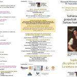 2 y 3 de noviembre: Coloquio «Supliciar y disciplinar los cuerpos. La tortura en la Historia» (Durango)