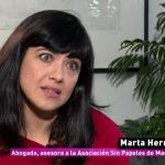 Vivir sin papeles – Marta Herrero en La Sexta Columna