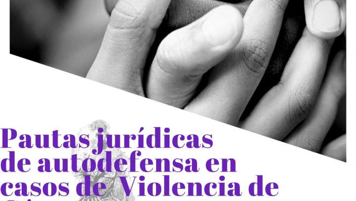27 de octubre: Charla «Pautas jurídicas de autodefensa en casos de violencia de género»