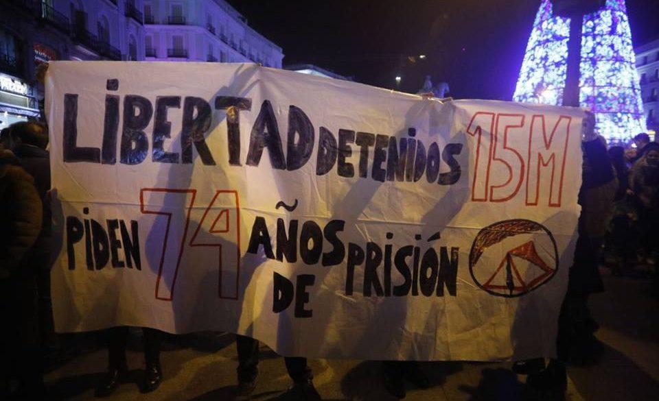 Hablamos en el Teleberri (ETB) sobre el juicio del 15-M