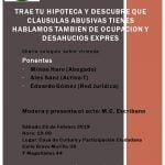 23 de febrero:  Charla sobre cláusulas abusivas, ocupación y desahucios exprés (Chamberí)
