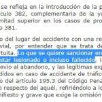 Se reforma el Código Penal en materia de imprudencia en la conducción de vehículos y del abandono del lugar del accidente
