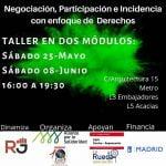 25 de mayo y 8 de junio: Taller en dos módulos: «Negociación, Participación e Incidencia con enfoque de Derechos dirigido a las trabajadoras del hogar y los cuidados»