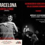 18 de diciembre: Coloquio tras la representación de «Barcelona contra la pared»
