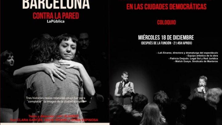 """18 de diciembre: Coloquio tras la representación de """"Barcelona contra la pared"""""""
