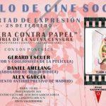 28 de febrero: Proyección del documental 'Tijera contra Papel' + coloquio