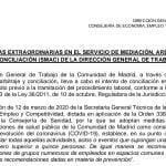 Medidas extraordinarias en el SMAC (Servicio de Mediación, Arbitraje y Conciliación Madrid) por la crisis del coronavirus