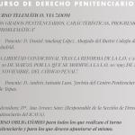 """1 de octubre: Curso de Derecho Penitenciario: """"Los grados penitenciarios: características, progresión y problemática"""""""