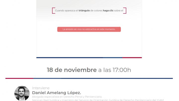 """18 de noviembre: Curso: """"Introducción al Derecho Penitenciario"""" (Colegio de Abogados de La Rioja)"""