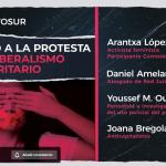 """16 de marzo: Charla """"Derecho a la protesta vs autoritarismo neoliberal"""", organizada por Viento Sur"""