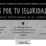 18 de septiembre: Proyección del documental «Es por tu seguridad. Engranajes institucionales de la islamofobia» y debate con el público (La Villana de Vallecas)